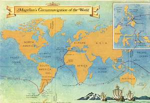 Map of Magellan's Circumnavigation of the World